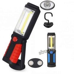 Фенер с лампа COB LED, магнит и закачалка 3хAA
