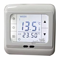 Терморегулатор с LCD touch screen бял с бяло осветление