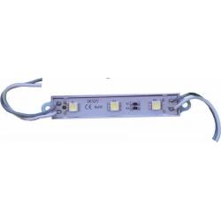 Плочка LED 3диода 12V/0,43W с кабелчета