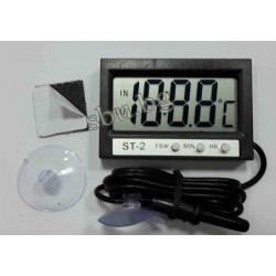 Термометър за 2 темпер. с външен датчик МИНИ за кола