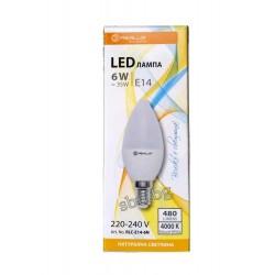 Крушка LED 6W Свещ Е14 C35 4500K REALUX