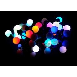 Украса коледна светодиодна тип въже LED50 преливащи многоцветни топчета RGB