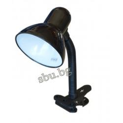 Лампа настолна с щипка бяла/жълта OMNIA E27