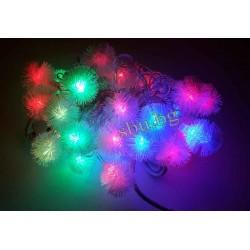 Украса коледна LED бодливче многоцв. D13-034