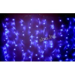 Украса коледна LED Завеса 168л сини 220см/130см D13-033