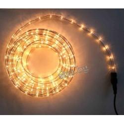 Маркуч светещ светодиоден LED с контролер 10м Топло бял /жълт/