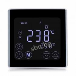 Терморегулатор с LCD EDGE touch screen черен