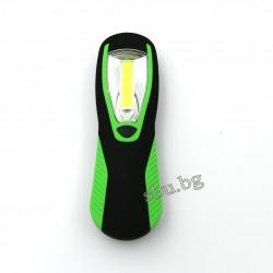 Лампа LED COB с фенер, магнит и закачалка 4хAAА 210187
