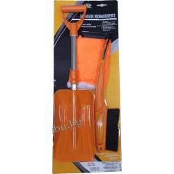 Комплект зимен авто- лопата, стъргалка-четка, стъргалка с ръкавица