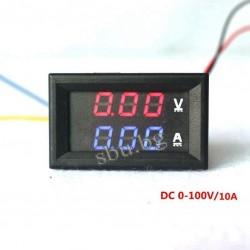 Волт-амперметър до 100V / 10А (захр. 4,5-30V)