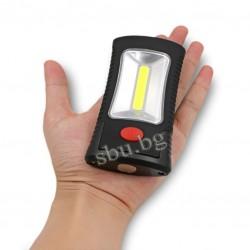 Лампа COB SMD с магнит, закачалка, чупеща 3xAAA