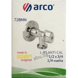 "Кран сферичен ъглов АнтиКалк 1/2""-3/4"" ARCO 728MN"
