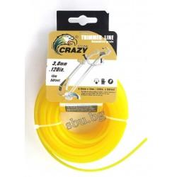 корда за тример 3,0мм жълт кръглa 15м 1081-16