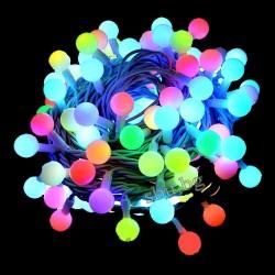 Украса LED светещи топки RGB 100бр 10м IP44 230v LIGHTEX