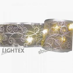 Украса LED гирлянд с дантели 50LED 5м 1,7W топло бял IP20 230V LIGHTEX
