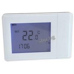 Терморегулатор с LCD бял със сензорни бутони HY01W