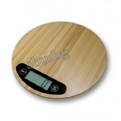 Кантар кухненски Бамбук HOMA 5кг HS-555B