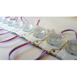 Плочка LED плафон 12V/1,5W с кабелчета бяла (20)
