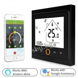 Терморегулатор LCD WiFi черен сензорни бутони