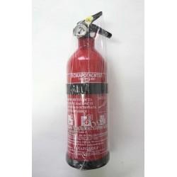 Пожарогасител за кола 1кг прахов + стойка